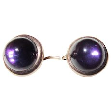 Victorian Genuine Amethyst Tiny Earrings