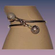 Victorian Gold Filled Bypass Bracelet