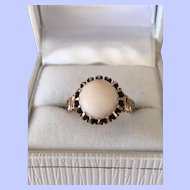 Victorian Rose Gold Ring Angel Skin Coral