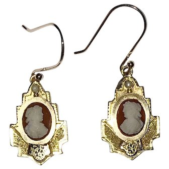 Victorian Hardstone Cameo Earrings and Brooch