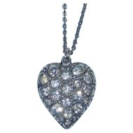 Victorian Sterling Puffy Heart Charm