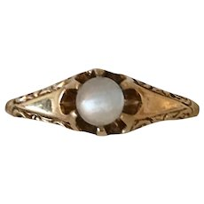 Victorian Moonstone Ring 14K Gold