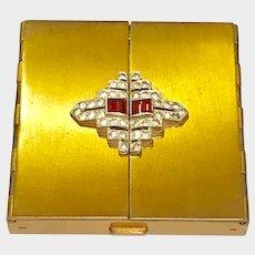 Vintage Volupte Compact Case Art Deco