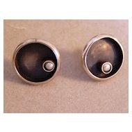 Sterling Modern Silver Artist Earrings