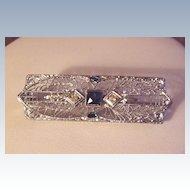 Vintage Sterling Filigree Pin