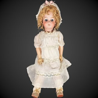 "Antique SIMON & HALBIG / Heinrich Handwerck Bisque / Compo 25"" Doll with Mohair Wig"