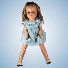 "Vintage c1928 EFFANBEE LOVUMS Mary Ann Doll Large 26"" Blonde, Blue-Green Eyes"