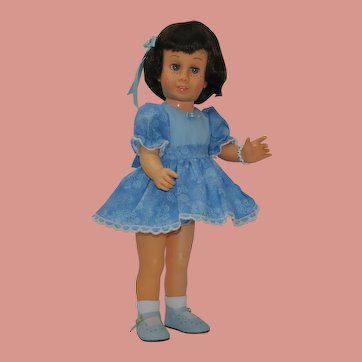 "Chatty Cathy brunette bob soft face - #5 body 20"" tall"