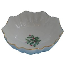 """Lenox - """"Special"""" Holiday Collection Holly Berry Candy Bowl"""