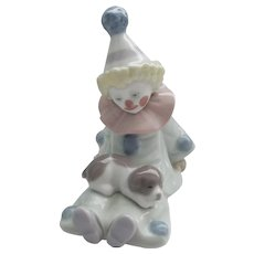Lladro - Pierrot with Puppy #05277