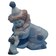 "Lladro - ""Pierrot with Puppy and Ball #5278"