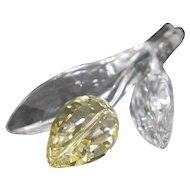 """Swarovski Crystal - """"Yellow Rose"""""""