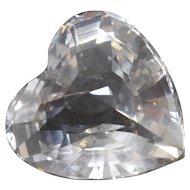 "Swarovski Retired Crystal ""Sparkling Heart"" Figurine #656680"