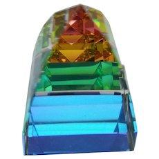 "Swarovski Crystal - ""Pyramid"" VM Paperweight #7450"