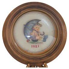 "Hummel - ""1981 Annual Umbrella Boy Plate"" Ref #685 TM6"