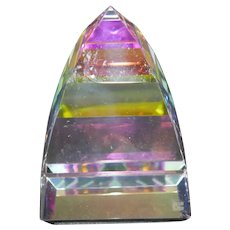 "Swarovski Crystal - ""Pyramid"" Small Paperweight #7450"