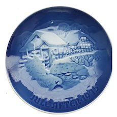 "B&G  ""Christmas at the old Water-mill Jule after 1975"" Collector Plate #9075"