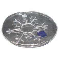 Arabia Finland Crystal: Nuutajarvi Annual Snowflake Christmas Ornament