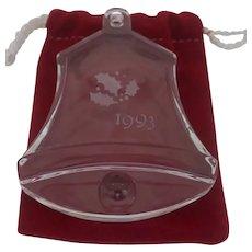 Orrefor's - 1993 Christmas Bell Ornament