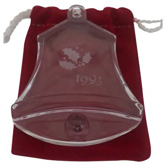 Orrefor's - 1993 Christmas Bell Ornament
