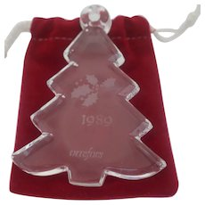 Orrefor's - 1989 Clear Crystal Christmas Tree Ornament