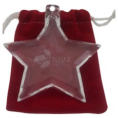 Orrefor's - 1992 Christmas Star Ornament