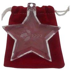 Orrefor's - 1992 Christmas Star Ornament