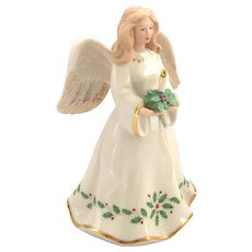 "Lenox - ""Christmas Angel"" with Holly Berry Pattern Design"