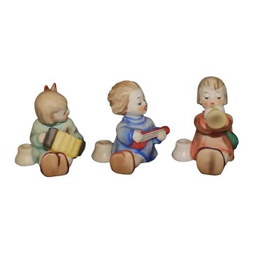 """Hummel - """"Angels with Instruments and Candleholders Trio"""" Ref#532, 534, 530"""