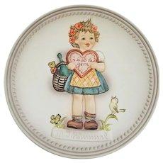 """Hummel  - """"Valentine Gift"""" Plate Ref #406 TM7"""
