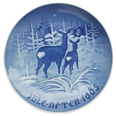 """B&G """"I Skoven for July - Jule After 1965"""" Collector Plate"""
