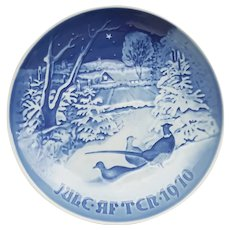 "B&G ""Pheasants in the snow at Christmas Jule After 1970"" Collector Plate #9070"