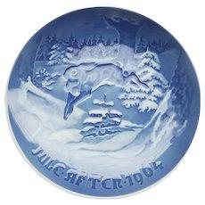 "B&G ""Rabbit Running Through Forest - Jule after 1964"" Collector Plate"