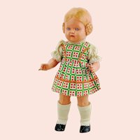 Schildkrot turtle mark celluloid doll type Barbel, 1937 to 1940 only in 10""