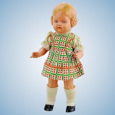 """Schildkrot turtle mark celluloid doll type Barbel, 1937 to 1940 only in 10"""""""