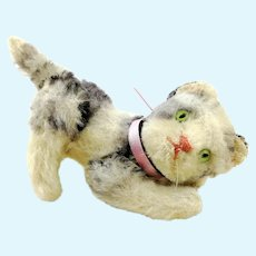 """Steiff cat Kitty, fully jointed, smallest 4"""" edition, 1960s vintage"""