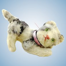 "Steiff cat Kitty, fully jointed, smallest 4"" edition, 1960s vintage"