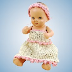"""Vintage Dollhouse Baby, 4 ½"""", made in 1930 Germany, makers mark"""