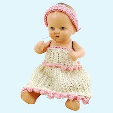 """Vintage Dollhouse Baby, 4"""", made in 1930 Germany, makers mark"""