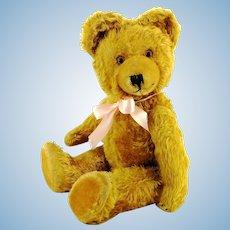 "1950s German vintage teddy bear made by Diem, 18"", brass yellow"