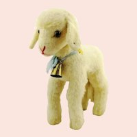 "Steiff lamb with IDs, 11"", vintage 1968 to 1973 made"