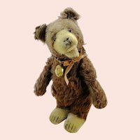 "Steiff Teddy Baby Bear, prewar ff button, 10"", produced 1930 to 1936"