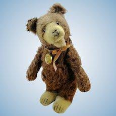 """Steiff Teddy Baby Bear, prewar ff button, 10"""", produced 1930 to 1936"""