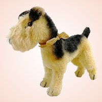 Steiff Airedale terrier Terry, 7 inches, vintage 1951 to 1961