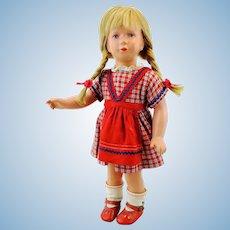 """Kathe Kruse doll girl model Schildkrot, 1955 - 61 only, 16"""""""