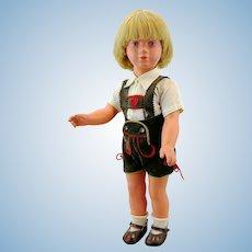 "Kathe Kruse doll boy model Schildkrot, 1955 - 61 only, 18"""