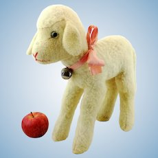 """Steiff lamb largest ever 14"""", vintage 1953 to 1964 produced"""