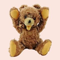 Zotty teddy bear by Hermann Teddy, 1950s vintage, 16 inches