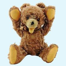 Zotty teddy bear by Hermann Teddy, 1950s vintage, 16 inches