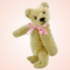 """Steiff original teddy bear 1950s vintage, small 6"""", identical to prewar model"""